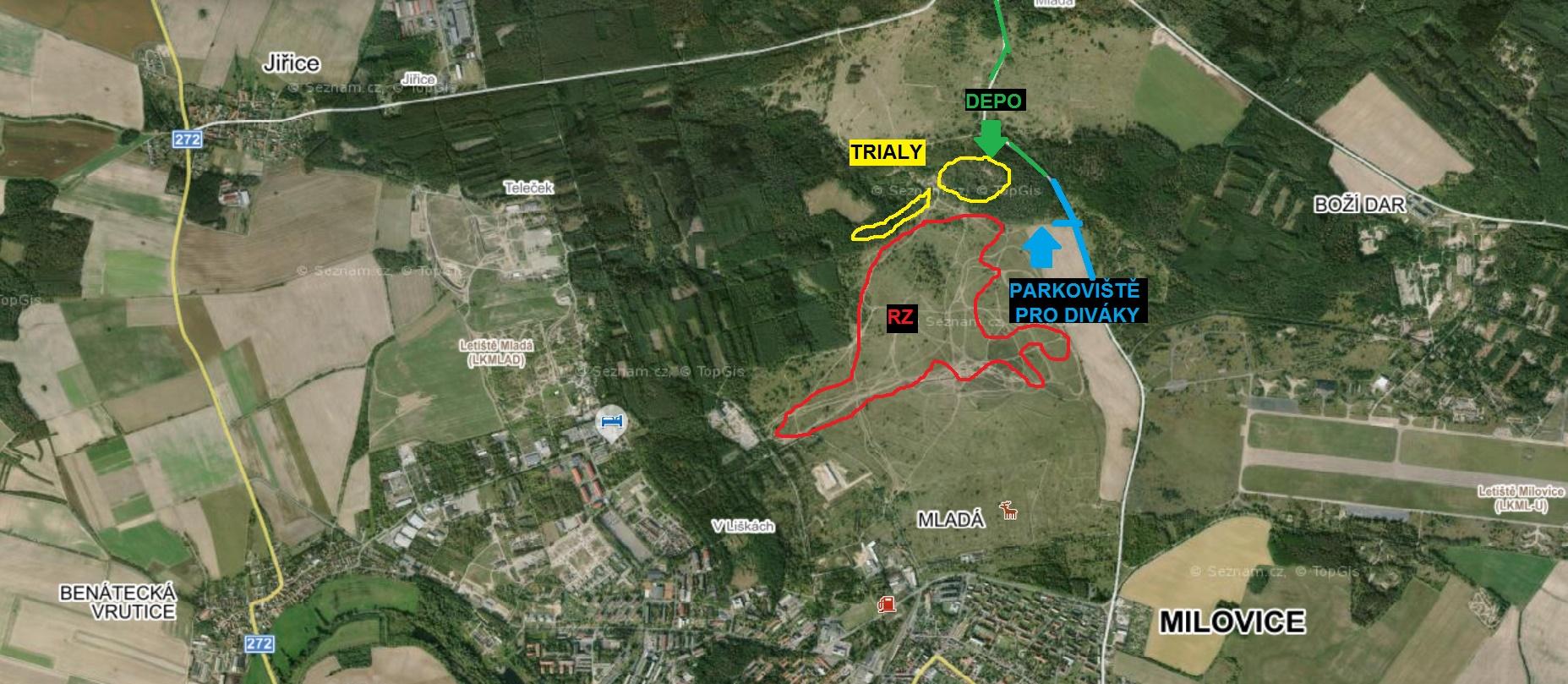 Mapa-Milovice
